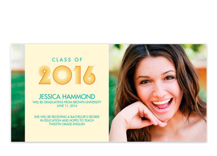 Beach Photo Graduation Announcements