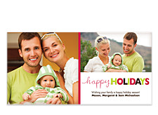 Colorful Holidays Photo Cards