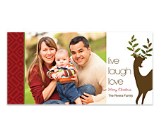 Live Laugh Love Horizontal Photo Cards