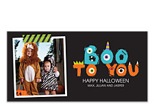 Boo Monsters Halloween Photo Cards