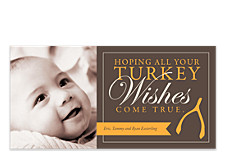 Wishbone Happy Thanksgiving Photo Cards