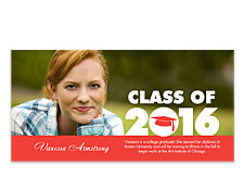 Nice Work Grad Photo Graduation Announcements
