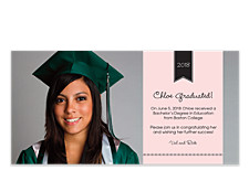 Classic Graduation Photo Party Invitations