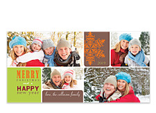 Love is in the Air Christmas Photo Cards