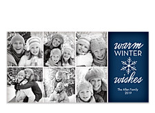 Snowflake Multi Pic Christmas Photo Cards
