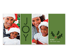 Berries and Holly Christmas Photo Cards