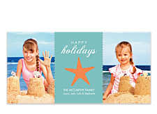 Starfish Banner Photo Holiday Cards