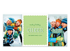 Green Cheer Christmas Photo Cards