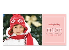 Pink Cheer Christmas Photo Cards