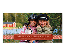 Red Ribbon Photo Christmas Cards