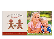 Gingerbread Horizontal Photo Cards