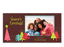 Mod Trees Christmas Photo Cards