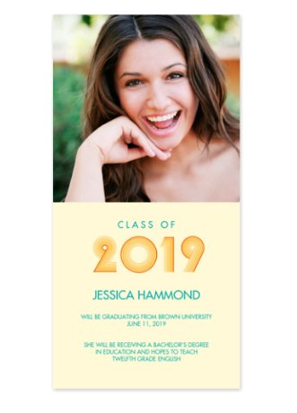 Surfer Photo Graduation Announcements
