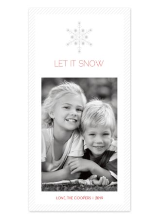 Single Flake Photo Christmas Cards