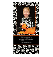 Skull and Crossbones Halloween Photo Cards