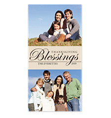 Thanksgiving Blessings Happy Thanksgiving Photo Cards