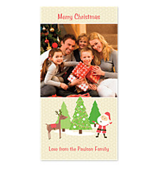 Santa & Rudolph Photo Holiday Cards