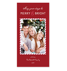 Merry Stripe Photo Christmas Cards