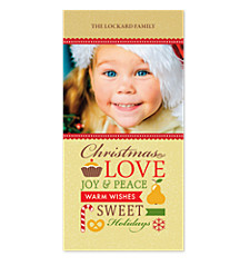 Sweet Holiday Treats Christmas Photo Cards