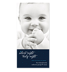 Silent Night Holy Night Holiday Photo Cards