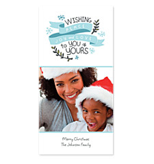 Peace, Joy & Love Photo Holiday Cards