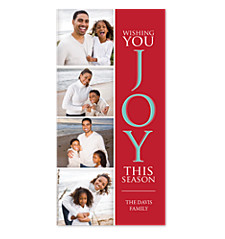 Joyful Season Red Photo Christmas Cards