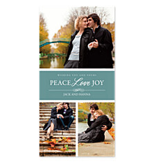 Joy and Peace Christmas Photo Cards