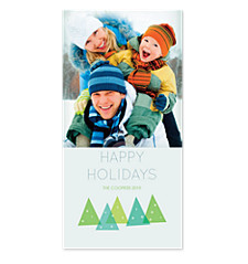 Modern Tree Christmas Photo Cards
