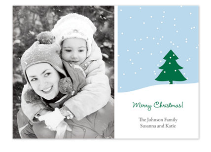 Jack Frost Nipping Holiday Photo Cards