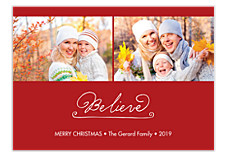 Believe in Magic Christmas Photo Cards