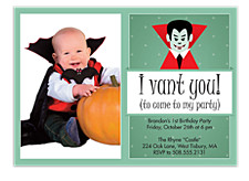 I Vant You Halloween Party Invitations