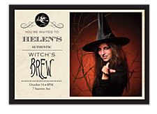 Witch's Brew Halloween Party Invitations