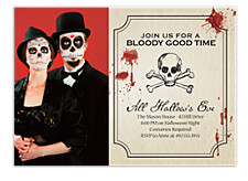 Ghouly Halloween Photo Invitation Cards
