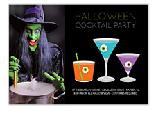 Halloween Cocktails Halloween Photo Invitation Cards