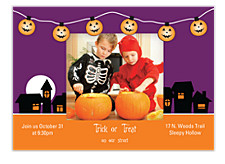 Full Moon Halloween Photo Invitation Cards