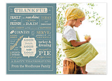 We Are Thankful Happy Thanksgiving Photo Cards