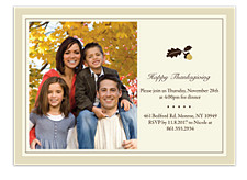 Bountiful Blessings Photo Thanksgiving Invitation Cards