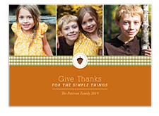 Acorn Icon Happy Thanksgiving Photo Cards