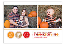 Give Thanks Happy Thanksgiving Photo Cards