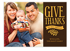 Gather Together Happy Thanksgiving Photo Cards