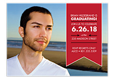 Hurray for You Graduation Party Photo Invitations