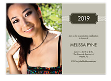 Sophisticated Graduation Party Invitations