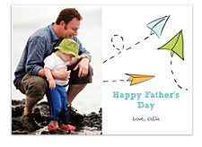 Paper Plane Father's Day Cards
