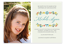 Share in the Happiness Bat Mitzvah Invitations