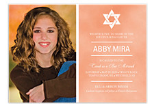Share in the Joy Bat Mitzvah Invitations
