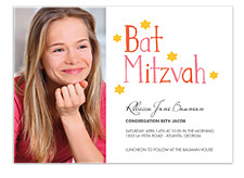 Cyrus Photo Bat Mitzvah Invitations
