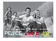 Love, Peace and Joy Holiday Photo Cards