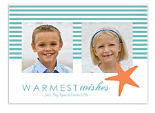 Starfish & Stripes Christmas Photo Cards
