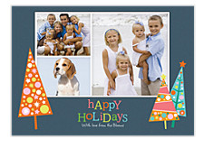 Deco Trees Photo Holiday Cards