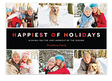 Modern Holiday Photo Cards